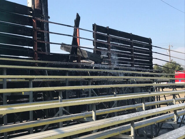 Arson Fire Bleachers